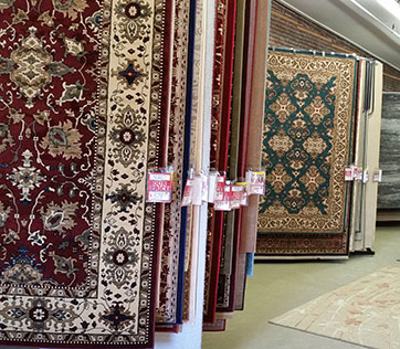 Machine Made Rugs At The Salibas Showroom